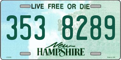 NH license plate 3538289