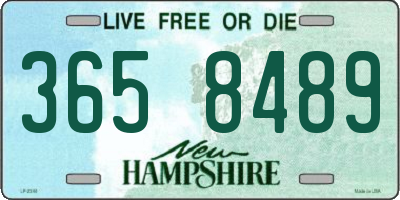 NH license plate 3658489