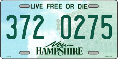 NH license plate 3720275