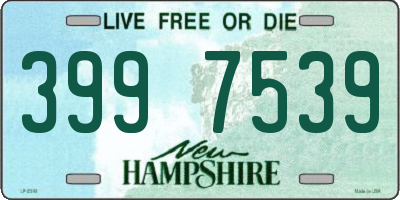 NH license plate 3997539