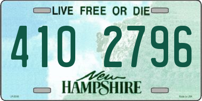NH license plate 4102796