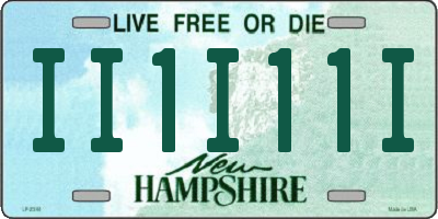 NH license plate II1I11I