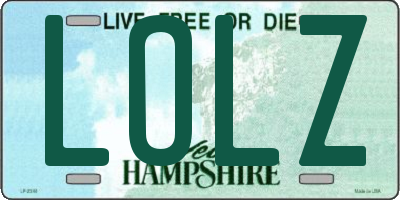 NH license plate LOLZ