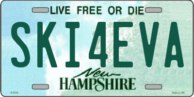 NH license plate SKI4EVA