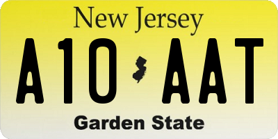 NJ license plate A10AAT