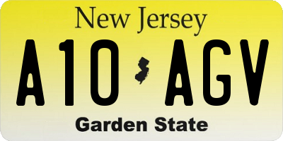 NJ license plate A10AGV