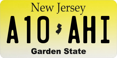 NJ license plate A10AHI