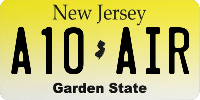 NJ license plate A10AIR