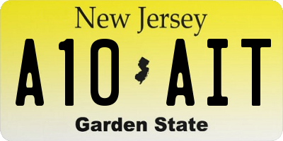 NJ license plate A10AIT