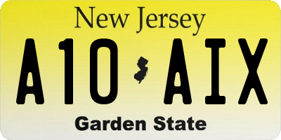 NJ license plate A10AIX