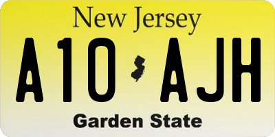 NJ license plate A10AJH