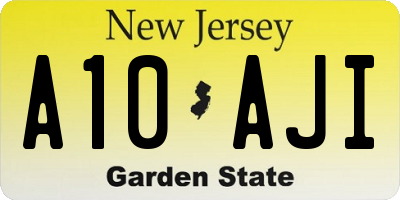 NJ license plate A10AJI