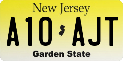 NJ license plate A10AJT
