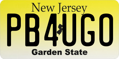 NJ license plate PB4UGO