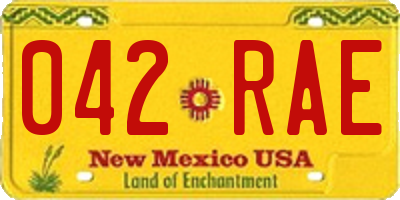 NM license plate 042RAE
