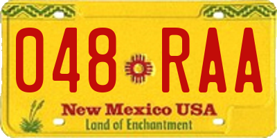NM license plate 048RAA