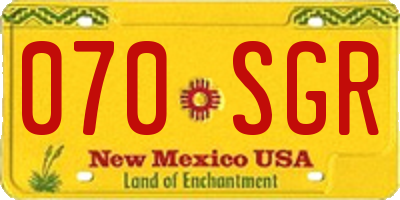 NM license plate 070SGR