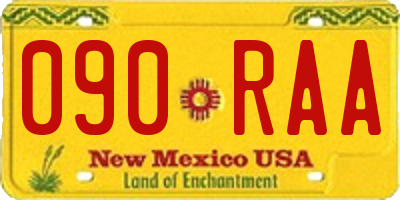NM license plate 090RAA