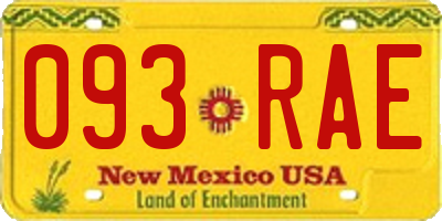 NM license plate 093RAE