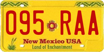 NM license plate 095RAA