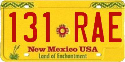 NM license plate 131RAE