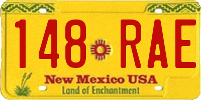 NM license plate 148RAE