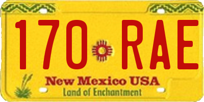 NM license plate 170RAE