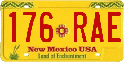 NM license plate 176RAE