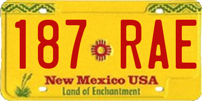 NM license plate 187RAE