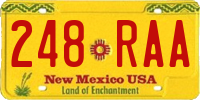 NM license plate 248RAA
