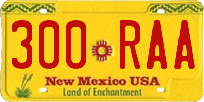 NM license plate 300RAA