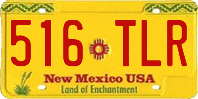 NM license plate 516TLR