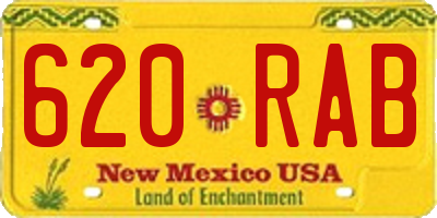 NM license plate 620RAB