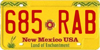 NM license plate 685RAB