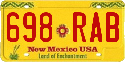 NM license plate 698RAB