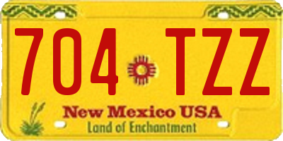 NM license plate 704TZZ
