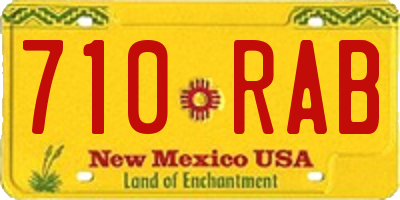 NM license plate 710RAB