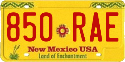 NM license plate 850RAE