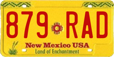 NM license plate 879RAD