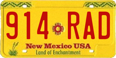 NM license plate 914RAD