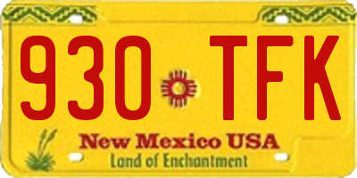 NM license plate 930TFK