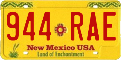 NM license plate 944RAE
