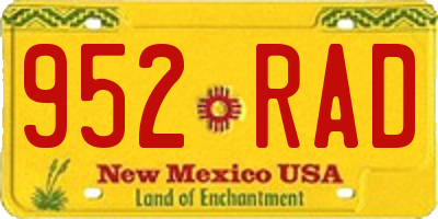 NM license plate 952RAD