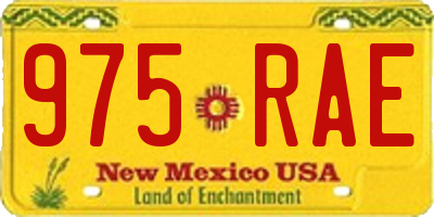 NM license plate 975RAE