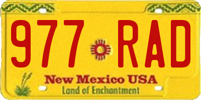 NM license plate 977RAD