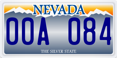 NV license plate 00A084