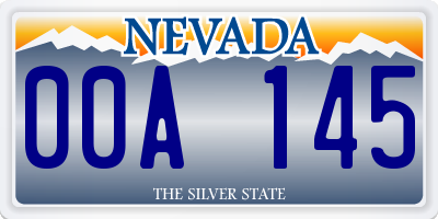 NV license plate 00A145