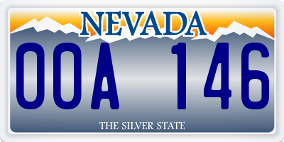 NV license plate 00A146