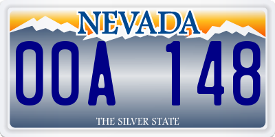NV license plate 00A148