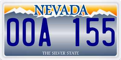 NV license plate 00A155